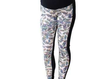 Maternity Leggings over Belly Aztec N Leggings, Maternity Wear Collection, Expecting a baby