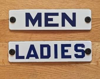 Restroom Men Ladies Porcelain Roadside Rest Room Signs Gas Station