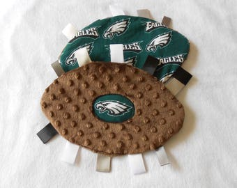 Philadelphia Eagles Baby Crinkly Football Toy, Philly Baby, NFL baby, sensory toy, grab toy, stroller toy ,sports toy, pacifier holder
