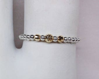 Real 14kt Gold Toe Ring Gold Bead Toe Ring Stacking Toe Ring Big Toe Ring Little Toe Ring Stretch Sterling Silver Toe Ring BuyAny3+Get1 Free