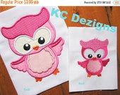 ON SALE Spring Owl 01 Machine Applique Embroidery Design
