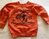 Vintage 1960s 70s Child Size Souvenir Sweatshirt Guest Ranch Chugwater Wyoming 6 7