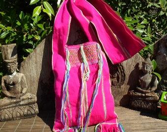 Vintage Hill Tribe Yam Bag, Karen Tribal Bag, Vintage Bag, Hand Woven Textile Bag, Hmong Bag