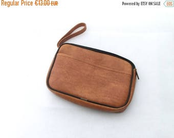 SALE 20% off Vintage brown Wrist Bag Men 70s, Handbag, Unique brown bag, Fall fashion