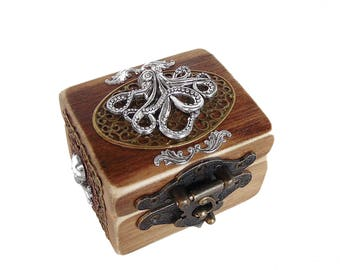 Octopus Engagement Ring Box - The Kraken - Ring Bearer Box - Nautical Wedding