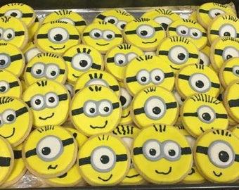 Minion Sugar Cookies - One Dozen