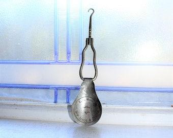 Antique Button Hook & Shoe Horn Folding Mann Dry Goods Advertising