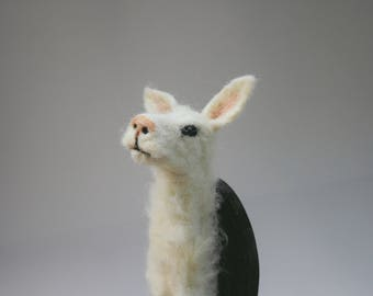 SALE - Small Alpaca Faux Taxidermy