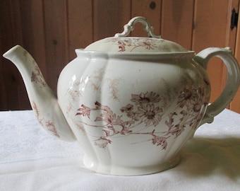 Vintage Transferware Tea Pot