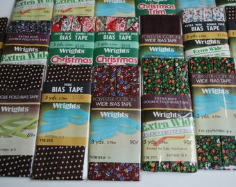 19  packages  Vintage Wrights Bias Tape