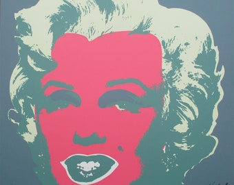 Andy Warhol Marilyn Monroe signed limited edition lithograph 2238/2400 II.30