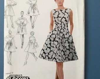 Inspired by Project Runway Simplicity Dress Pattern 0345 Uncut U.S. Size 4-12