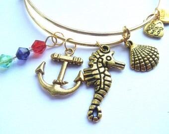 The Little Mermaid Bracelet / Disney Ariel Bangle