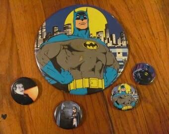 Vintage 80s-90s BATMAN Pins Buttons
