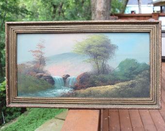 Old vintage oil painting.