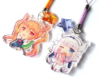 Miss Kobayashi's Dragon Maid clear acrylic charms