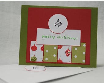 Christmas Ornament Card Handmade OOAK