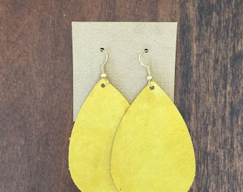 Mustard suede earrings