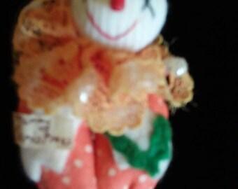 Vintage Christmas clown pin (Japan)
