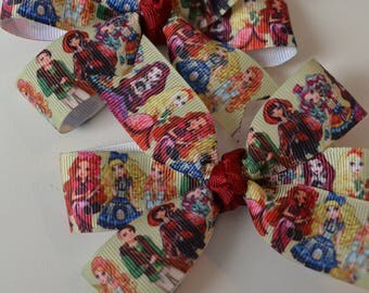 Set of Two Ever After High Hair Bows Royal Rebel