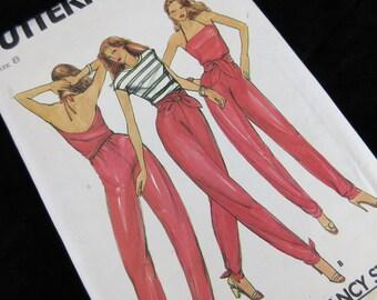 Vintage 70s / 80s Convertible Jumpsuit, Harem Pants, Sewing Pattern, Butterick 3127