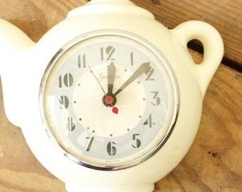 Teapot Clock Etsy