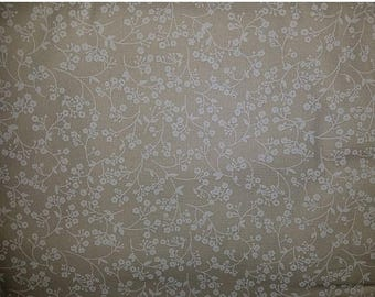 ON SALE Floral Vine Fabric, Off White, Tone on Tone, Cream Floral Fabric, Off White Floral Fabric, 01166A