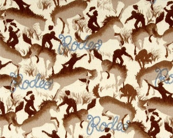 Cowboys, Rodeo Fabric, Roping Fabric, Round Up By Michael Miller, 01208A