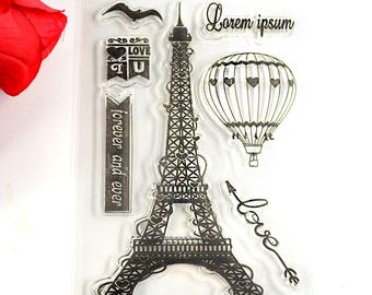 Paris in Love Clear Stamp Set