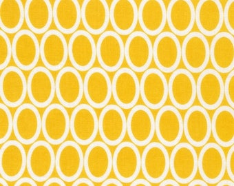 Half Yard Remix Ovals in Summer, Yellow Quilting Fabric, Ann Kelle,  Robert Kaufman Fabrics, 100% Cotton Fabric - FREE SHIPPING