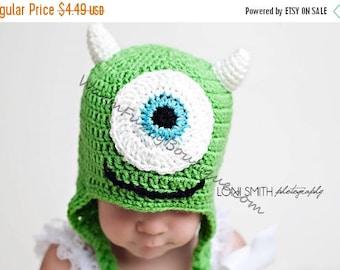 SUMMER SALE Instant Download PDF Crochet Pattern - No. 11 One Eyed Monster Ear Flap Hat - 5 Sizes