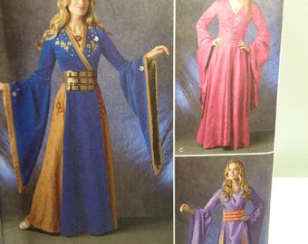 Renaissance Lady, Maiden Costume Pattern,Fantasy Medieval Renaissance Dress-- Simplicity 1010- Sewing Pattern Size 14-22