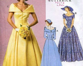 Retro 1952 Misses' Dress: Butterick 6022-Sizes 6-14