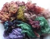 Great British hand dyed felting fleece pack - 100g - Bag 73