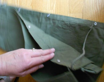 Vintage Yukon tarp.  Sleeping bag cover.  Green tarp.