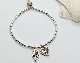 silver hill tribe bracelet, bohemian jewelry, gift for her