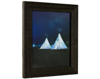 """Craig Frames, 24x30 Inch Weathered Black Picture Frame, 1.5"""" Wide (1.5DRIFTWOODBK2430)"""