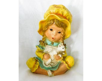 Alice & Kitty Universal Statuary 293 c1974 Plaster Figurine