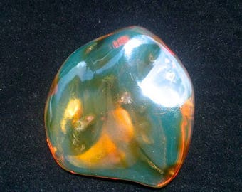 30 g.  Fully  Polished Dominican  Blue Amber  Stone   61  MM