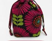 Sock Draw Reversible Canvas Bag - Mod Sunflowers