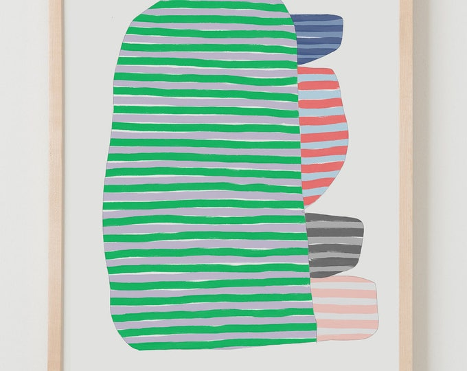 Fine Art Print.  Stripe Study Multicolor, September 20, 2017.