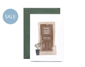 ON SALE Home Sweet Home Illustrated Greeting Card