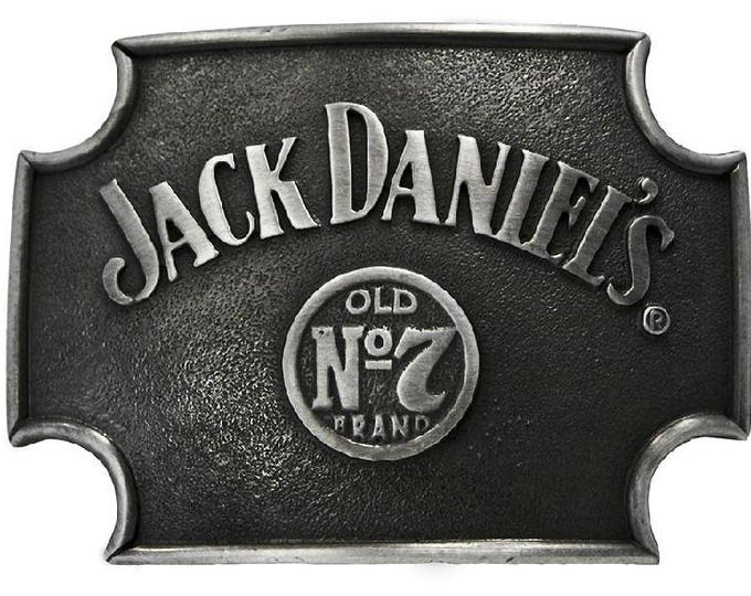 Jack Daniels No. 7 Sign Metal Belt Buckle Black 4x3