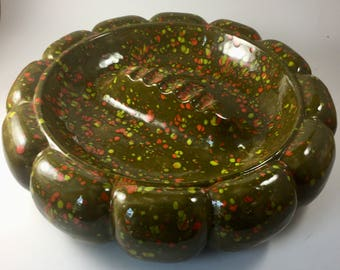 Large Green Confetti Ashtray