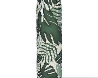 "Exclusive Designer Plastic Carrier Grocery Bag Holder Dispenser -  Palm Leaf, ""Tropical"" Collection From Izabela Peters, Made in The UK"