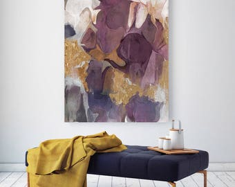 "Purple Gold Mix. Abstract Paintings Art, Wall Decor, Extra Large Abstract Colorful Contemporary Canvas Art Print up to 80"" by Irena Orlov"