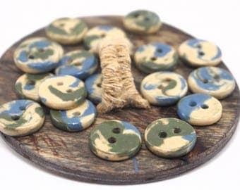 Colorful buttons,Ceramic buttons,Small buttons,Round buttons,Unique buttons,Knitting buttons,Decorative buttons,Glazed buttons,Buttons