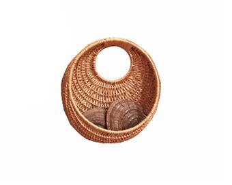 Circular Rattan Basket