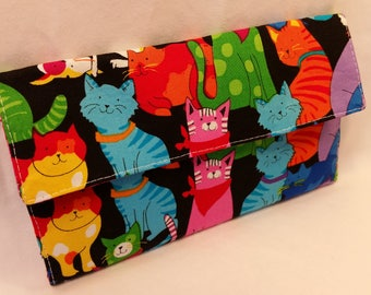 Cats in Bandanas! Colorful Kitties Wallet