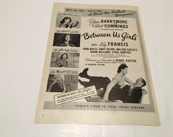 1942 between us girls movie poster vintage ad suitable for framing